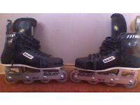 Inline Bauer roller skates. Size 9.