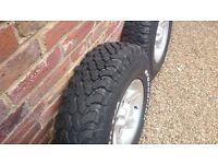 Land Rover Defender Alloys Deep Dish Wheels With BF Goodridge Tyres