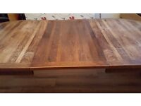Extending dining table, cherry wood