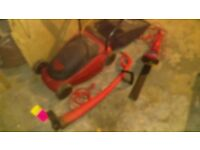 Job lot - Lawnmower, Hedge Trimmer and Strimmer