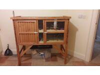 URGENT SALE NEEDED: Large wooden/ outdoor rabbitt/ guinea pig hutch