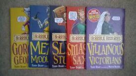 10 Horrible Histories books £1.50 each