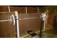150kg weights set barbells