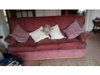 Sofa - 3 seater with beechwood frame