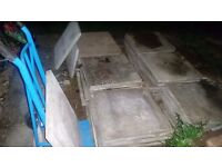 65 slabs 600 x 600mm used concrete Collection only from Leatherhead