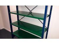 Adjustable Boltless Shelving -ESS SMP Blue / Green - Office/Warehouse/Workshop/Garage