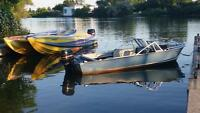 ready for water with 50hp mercury engine bowrider