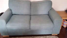 2 Seater sofa and matching armchair for sale, 3 years old.