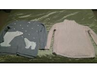 Bundle of Maternity autumn/winter clothes, size 12/M, 10+ items including Next jumpers.