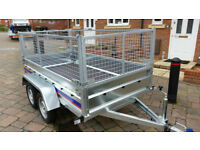 TWIN AXLE TRAILER/ CAGE/ MESH TRAILERS 8,6FT X 4,4FT - 750KG UNBRAKED