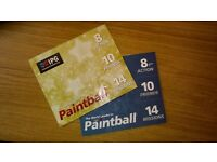 2x10 IPG Paintball Tickets with 2x1000 Paintballs