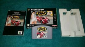 RIDGE RACER 64 BOXED AND COMPLETE MINT!!