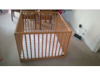 Wooden Playpen Kiddicare Very Good Condition