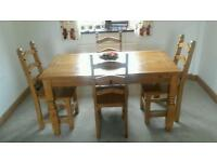 Pine table with four chairs. Good condition. Collection only, westhoughton area £100