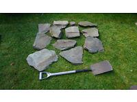 Garden slates/rocks for rockery