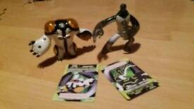 Ben 10 original action figures cannonbolt & upgrade 10cm with cards