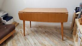 1960s Formica topped wood effect drop leaf Desk