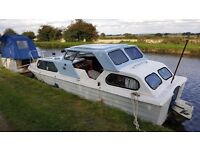 22ft Canal Boat - Cabin Cruiser - Refurbished - only 1000 ever made - Teal Convertable
