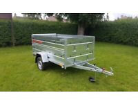 BRAND NEW 8.7x4.2 SINGLE AXLE TRAILER DOUBLE BROADSIDE AND RAMP TIPPING