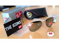 FREE DELIVERY TODAY! GUN METAL GREY AVIATOR RAYBANS SUNGLASSES MENS WOMENS WHOLESALE