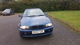 BMW 3 series coupe year 2002 ,2L petrol,mileage 120K and full service history . MOT till August 17