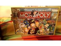 the simpsons monopoly board game -new