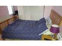Homebase solid wood double bed