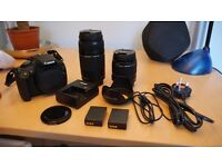 Canon 1200D DSLR + 18 - 55mm kit lens + 75 - 300mm lens - Immaculate Condition