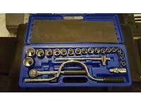 BRAND NEW Senator 24 piece socket set tool kit with ratchet, extensions, adaptors