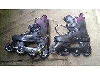 Bauer inline skates size 6