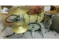 Flats Drum set - Low noise for practising.