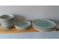 Habitat Atkinson 12 piece crockery set- green