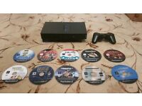 Playstation 2 with Controller & Games