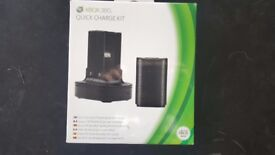 BLACK XBOX 360 QUICK CHARGE KIT : COMES WITH 1 GENUINE MICROSOFT BLACK BATTERY