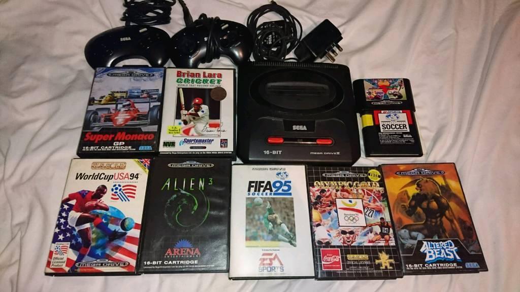 Sega Mega Drive Hd Console Amp 11 Games In Caerphilly