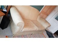 Cream/gold used 3 seater sofa