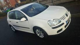 REDUCED White 2009 VW Golf 1.9 for sale