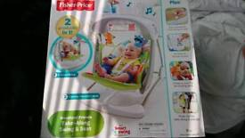 Brand new Fisher Price swing and seat