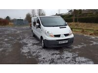 Renault trafic 2007 ll29 dci 115 converted crew cab 6 speed no v.a.t