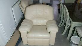 Leather g plan armchairs
