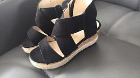Girls river island wedgies size 9