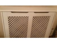 Original B&Q wooden Large Radiator covers in excellent condition, £40 each n 3 for 110
