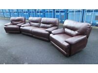 Electric Recliner Suite, Quality Real Leather,We Can Deliver
