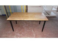 IKEA TABLE, LENGTH 1600MM, DEPTH 810MM, HEIGHT 720MM