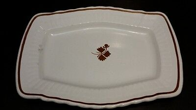 Warranted Stone China Mellor  Taylor   Co  14  X 10  Platter Tea Leaf Design