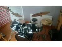 7-Piece Drumset - Zidijian Cymbals, Double Footpedal Drumset