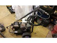 Honda gx160 petrel presure washer good working order tyres on trolley flat and lance joins leak