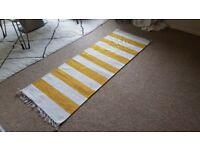 Yellow Striped Runner Rug