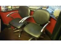 Barber / hairdresser chair.