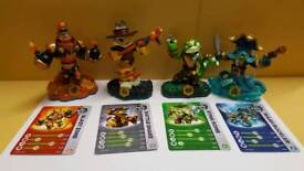 skylanders swap force figures and storage box - game also available